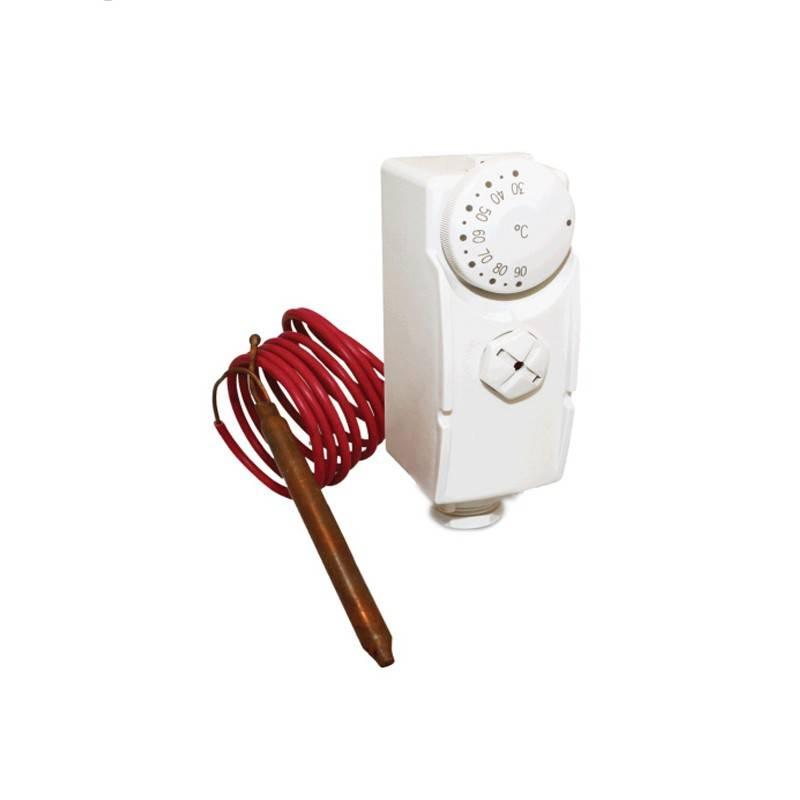 Poza  Termostat de contact mecanic cu senzor de imersie Salus AT10F