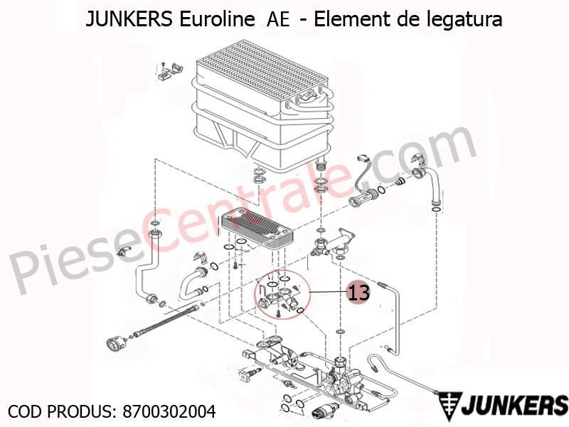 Poza Element de legatura centrale termice Junkers Euroline AE
