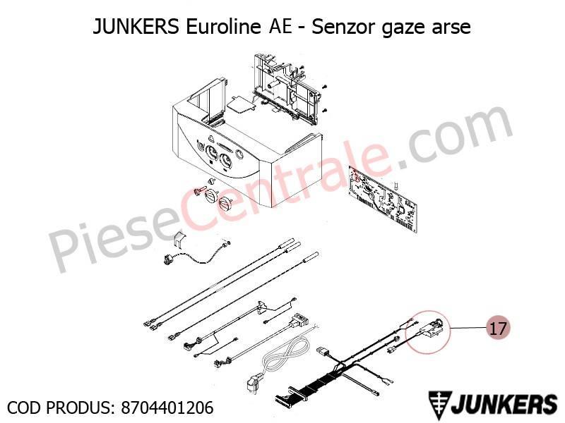 Poza Senzor gaze arse centrale termice Junkers Euroline AE, Bosch Gaz 3000W Midi