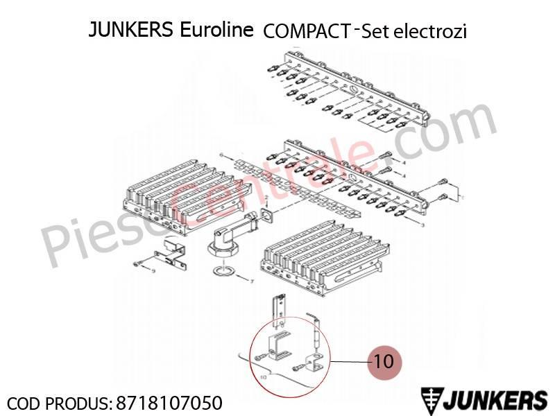 Poza Set electrozi centrala termica Junkers Euroline Compact