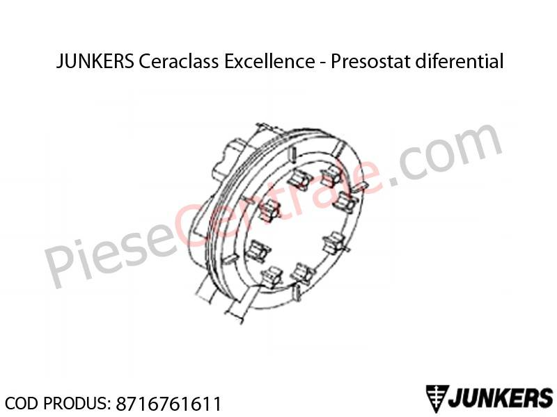 Poza Presostat diferential centrala termica Junkers Ceraclass Excellence