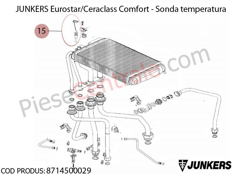 Poza Sonda temperatura centrale termice Junkers Ceraclass Comfort, Eurostar