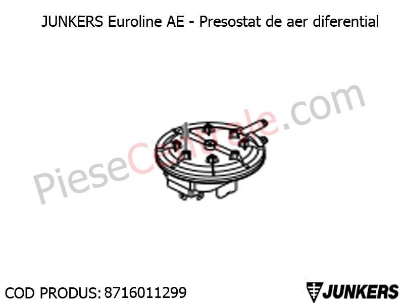 Poza Presostat de aer diferential centrale termice Junkers Euroline AE, Bosch Gaz 5000
