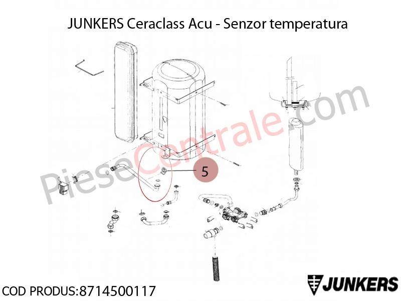 Poza Senzor de temperatura centrala termica Junkers Ceraclass ACU, Buderus Logamax U052