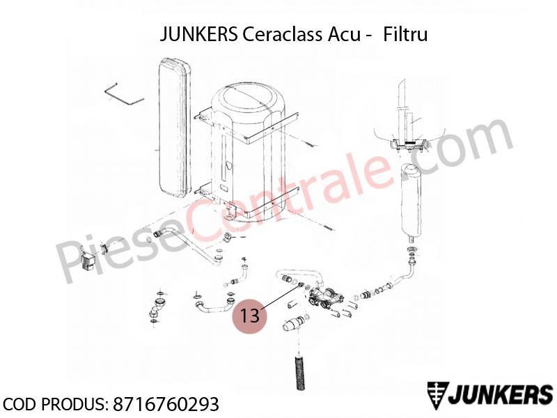 Poza Filtru centrala termica Junkers Ceraclass ACU