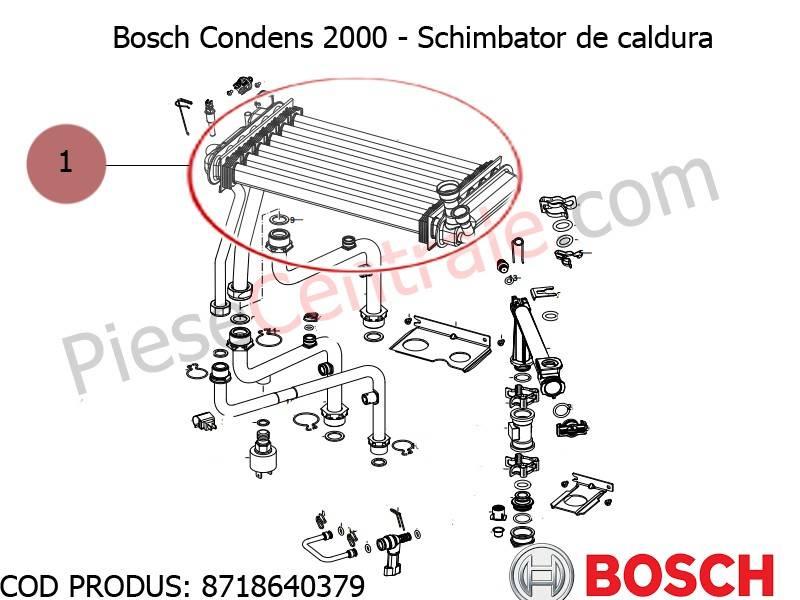 Poza Schimbator de caldura centrala termica Bosch Condens 2000, Buderus Logamax Plus