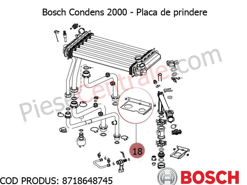 Poza Placa de prindere centrala termica Bosch Condens 2000