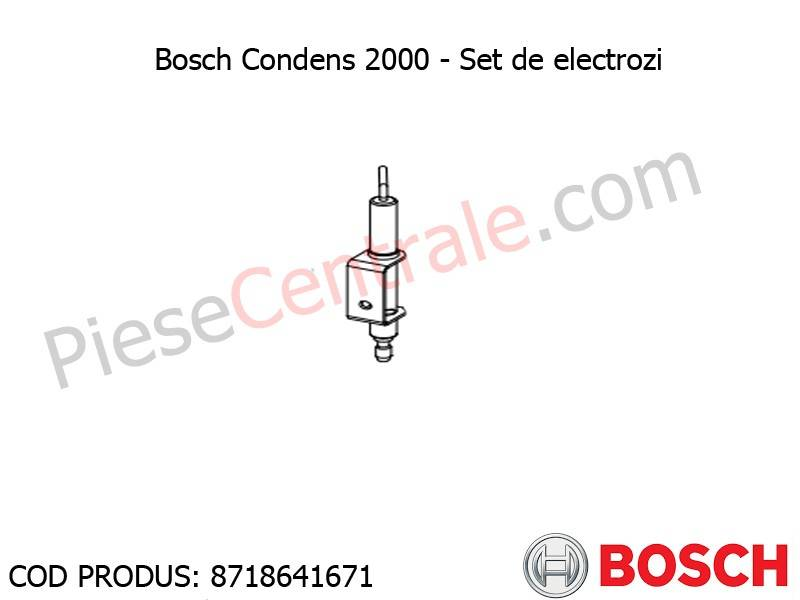 Poza Set de electrozi centrala termica Bosch Condens 2000, Buderus Logamax Plus