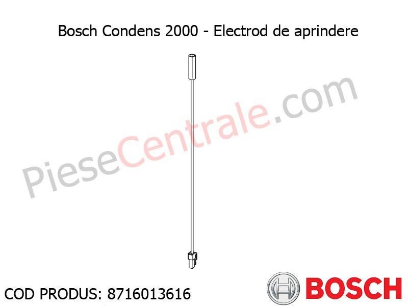 Poza Electrod de aprindere centrala termica Bosch Condens 2000, Buderus Logamax Plus