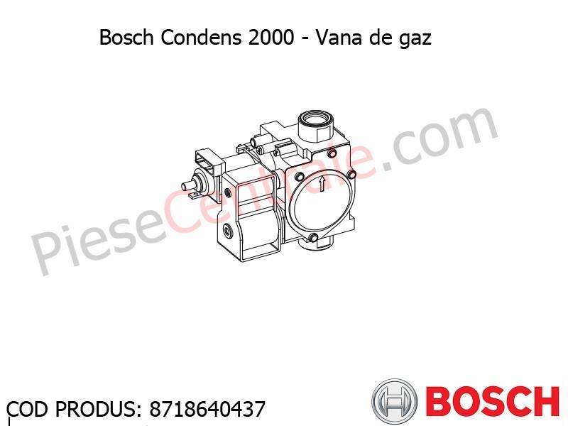 Poza Vana de gaz centrala termica Bosch Condens 2000, Buderus Logamax Plus