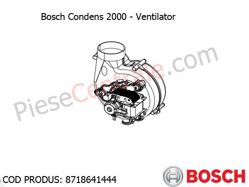 Poza Ventilator centrala termica Bosch Condens 2000, Buderus Logamax Plus