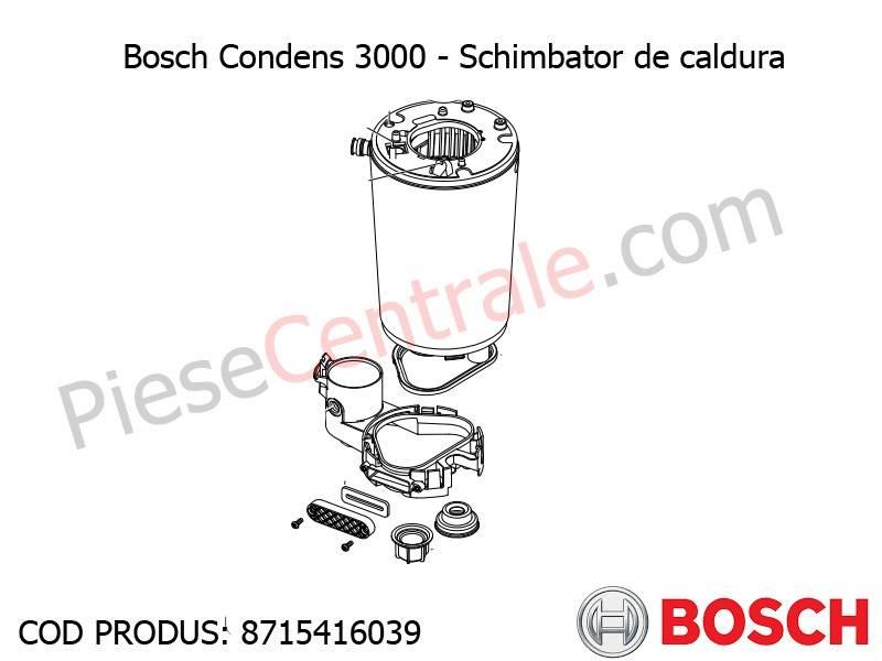 Poza Schimbator de caldura centrala termica Bosch Condens 3000
