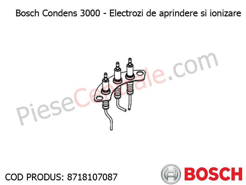 Poza Electrozi aprindere + ionizare centrala termica Bosch Condens 3000
