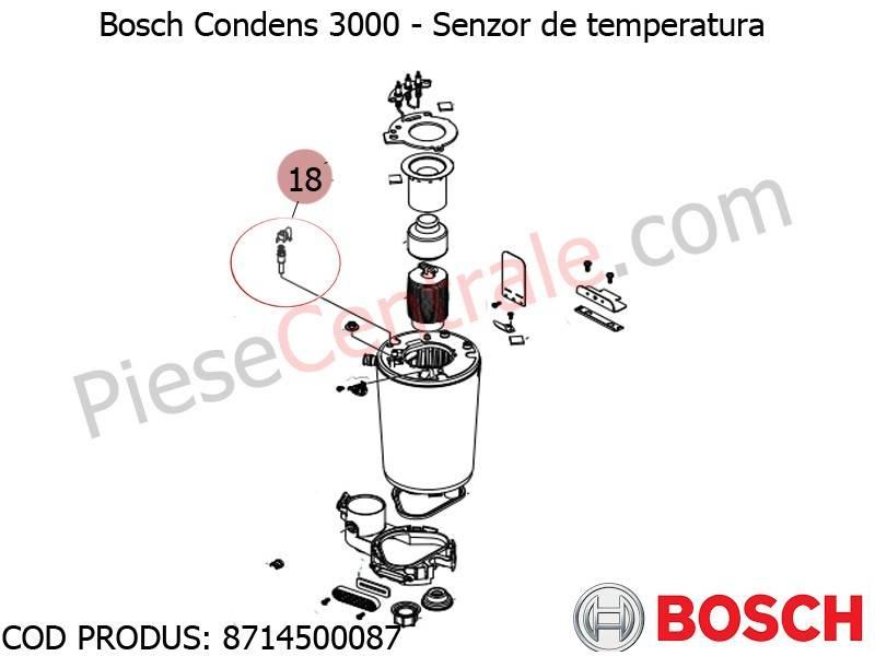 Poza Senzor de temperatura centrala termica Bosch Condens 3000, Condens 2500W, Buderus Logamax U042