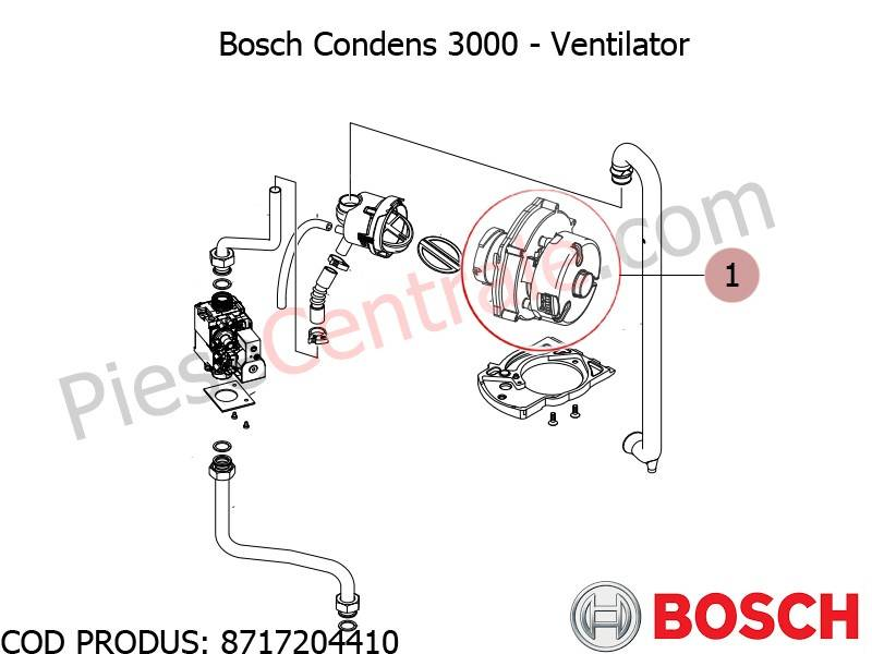 Poza Ventilator centrala termica Bosch Condens 3000