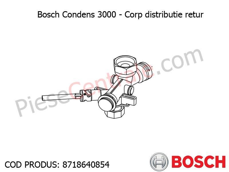 Poza  Corp distributie retur centrala termica Bosch Condens 3000