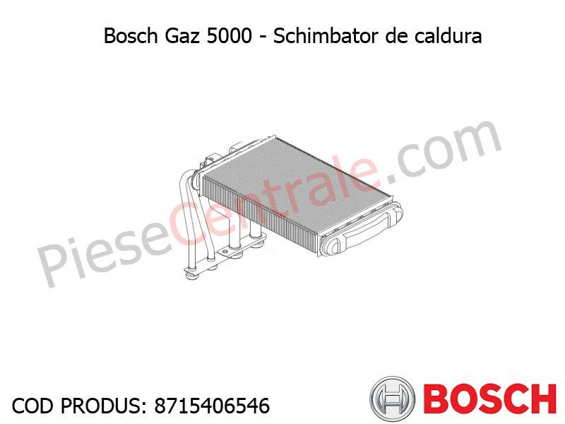 Poza Schimbator de caldura centrala termica Bosch Gaz 5000, 4000W, Buderus Logamax U042