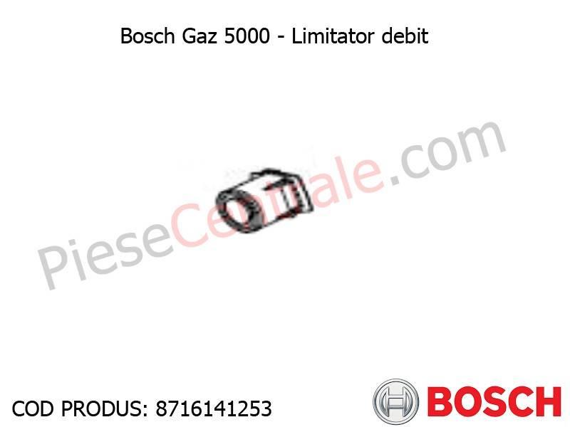 Poza Limitator de debit centrala termica Bosch Gaz 5000, 4000W, Buderus Logamax Plus, Logamax U042-24K