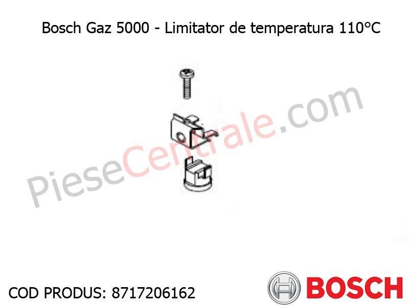 Poza Limitator de temperatura 110 grdC centrala termica Bosch Gaz 5000, 4000W, Buderus Logamax U042, Bosch Gaz 4000W