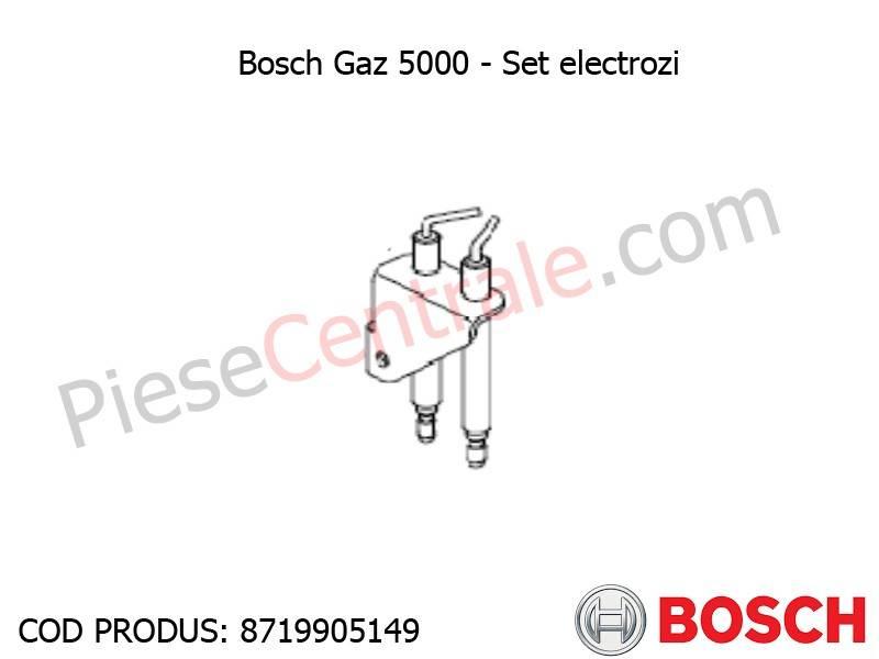 Poza Set electrozi centrala termica Bosch Gaz 5000, Buderus Logamax U042