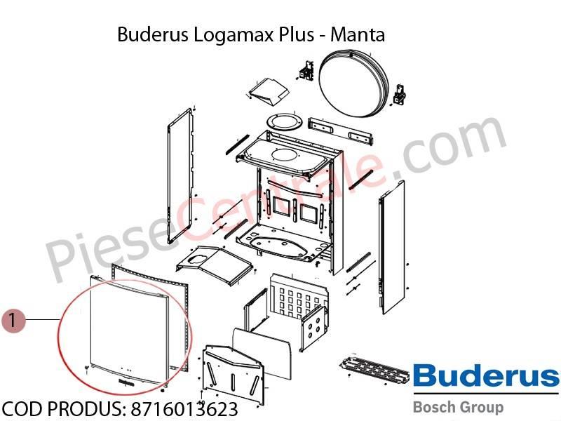 Poza Manta centrala termica Bosch Condens 3000, Buderus Logamax Plus