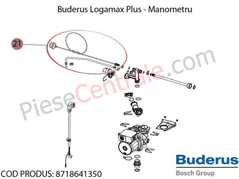 Poza Manometru centrala termica Buderus Logamax Plus