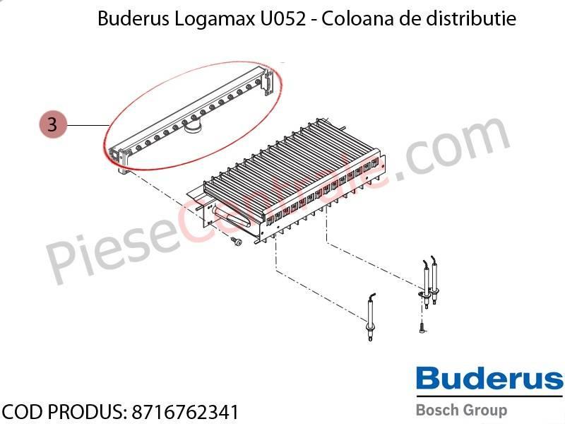 Poza Coloana de distributie centrala termica Buderus Logamax U052
