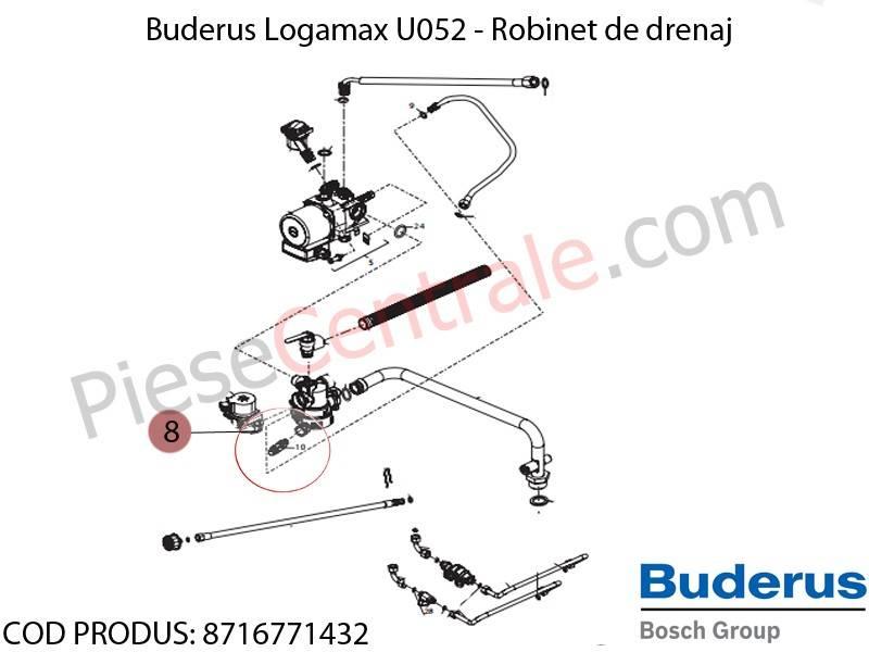 Poza Robinet drenaj centrala termica Buderus Logamax U052