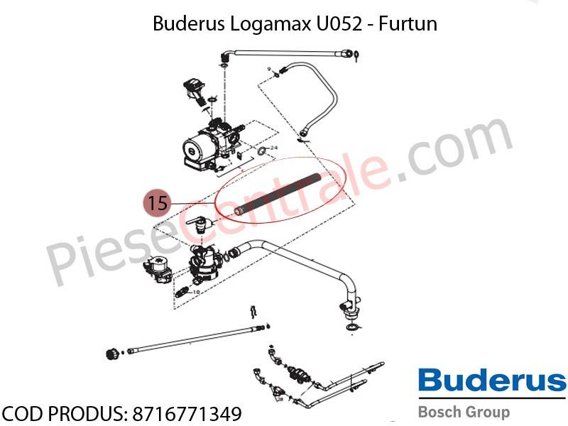 Poza Furtun centrala termica Buderus Logamax U052