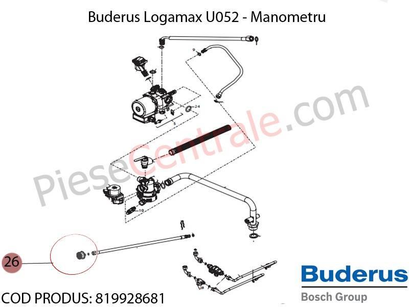 Poza Manometru centrala termica Buderus Logamax U052