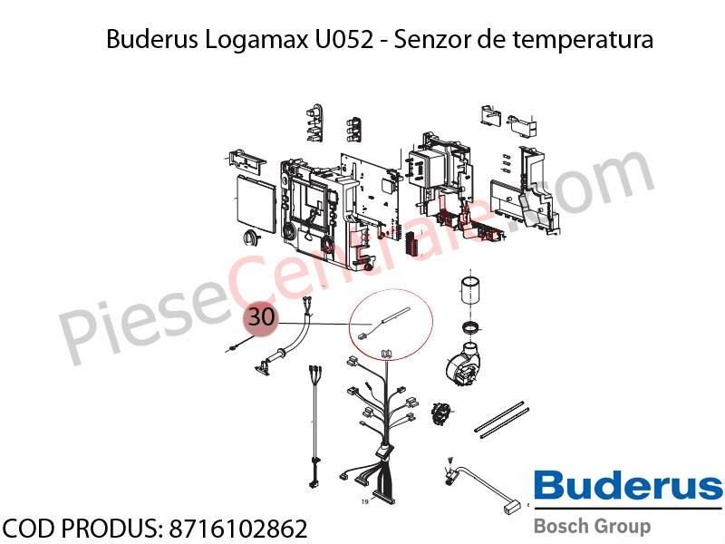 Poza Senzor de temperatura centrala termica Buderus Logamax U052