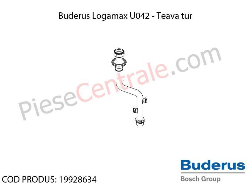 Poza Teava tur centrala termica Buderus Logamax U042