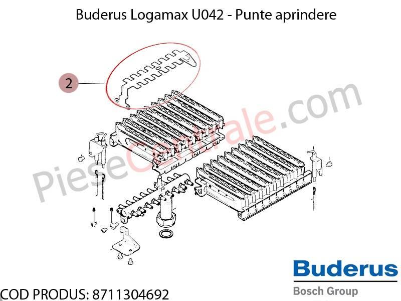 Poza Punte aprindere centrala termica Buderus Logamax U042, Bosch Gaz 4000W