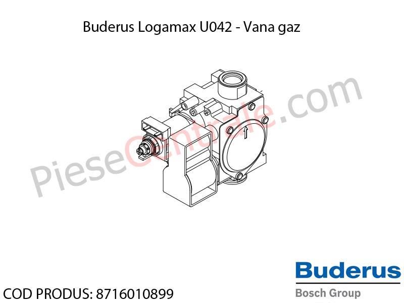 Poza Vana gaz centrala termica Buderus Logamax U042, Bosch Gaz 4000W