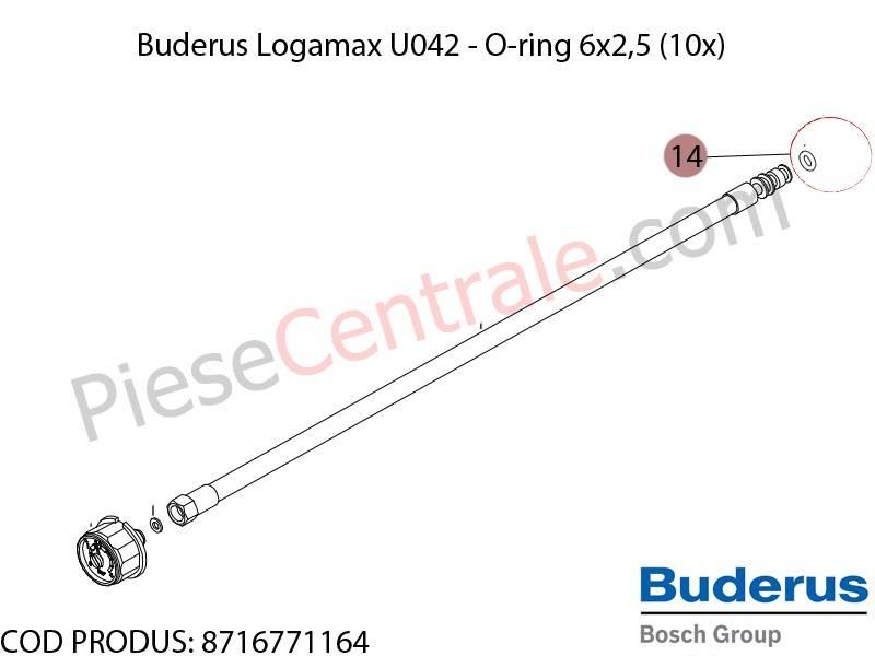 Poza O-ring centrala termica Buderus Logamax U042