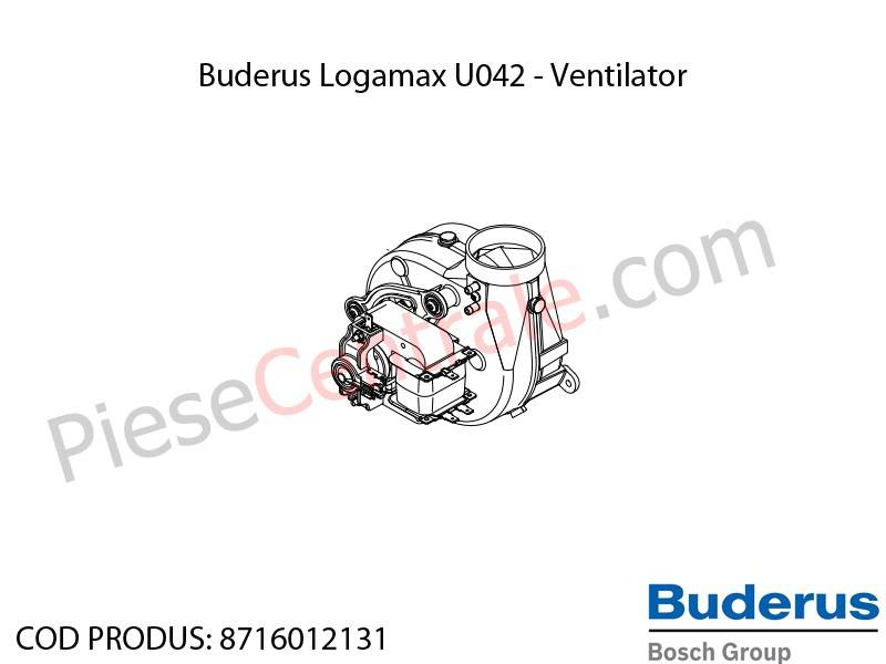 Poza Ventilator centrala termica Buderus Logamax U042, Bosch Gaz 4000W