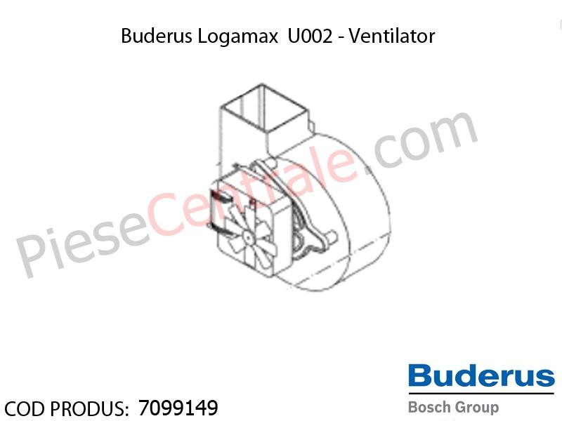 Poza Ventilator centrala termica Buderus Logamax U002