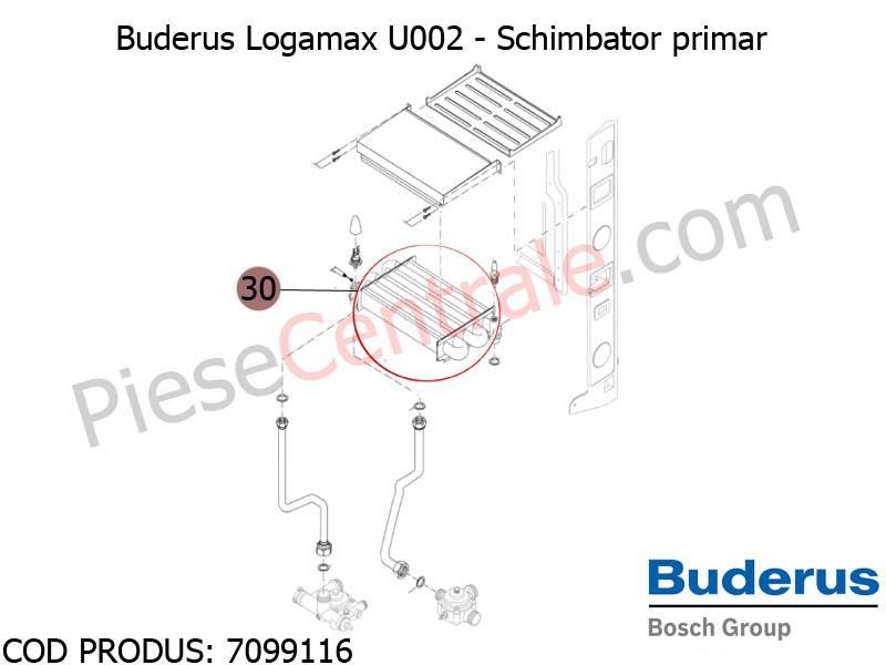 Poza Schimbator primar centrala termica Buderus Logamax U002