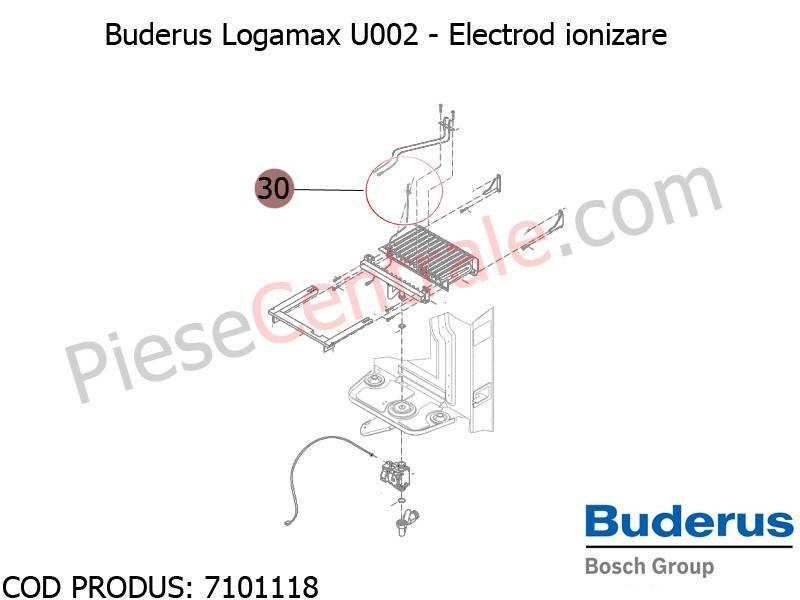 Poza Electrod ionizare centrala termica Buderus Logamax U002