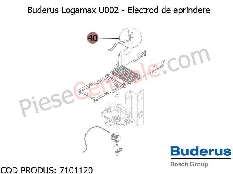Poza Electrod de aprindere centrala termica Buderus Logamax U002