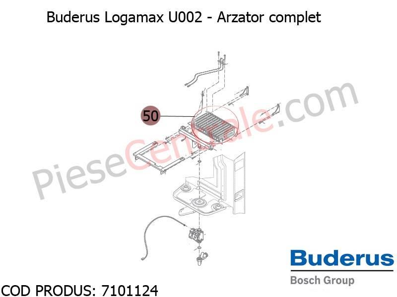 Poza Arzator complet centrala termica Buderus Logamax U002