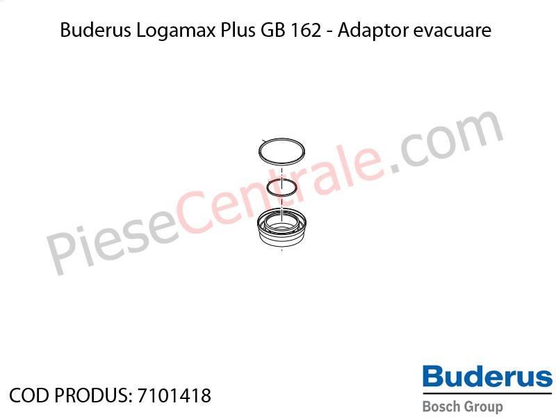 Poza Adaptor evacuare centrala termica Buderus Logamax Plus GB 162