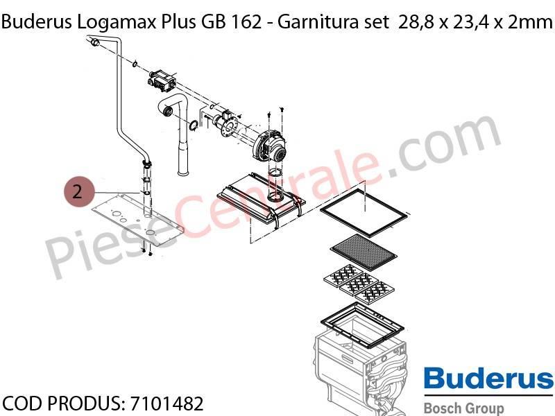 Poza Garnitura set 28,8 x 23,4 x 2mm centrala termica Buderus Logamax Plus GB 162