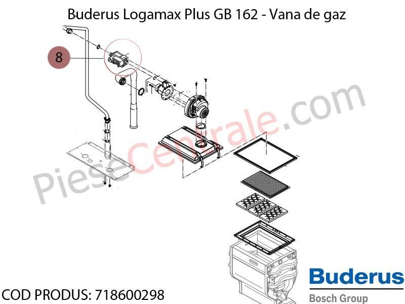 Poza Vana de gaz centrala termica Buderus Logamax Plus GB 162, Bosch Condens 5000W