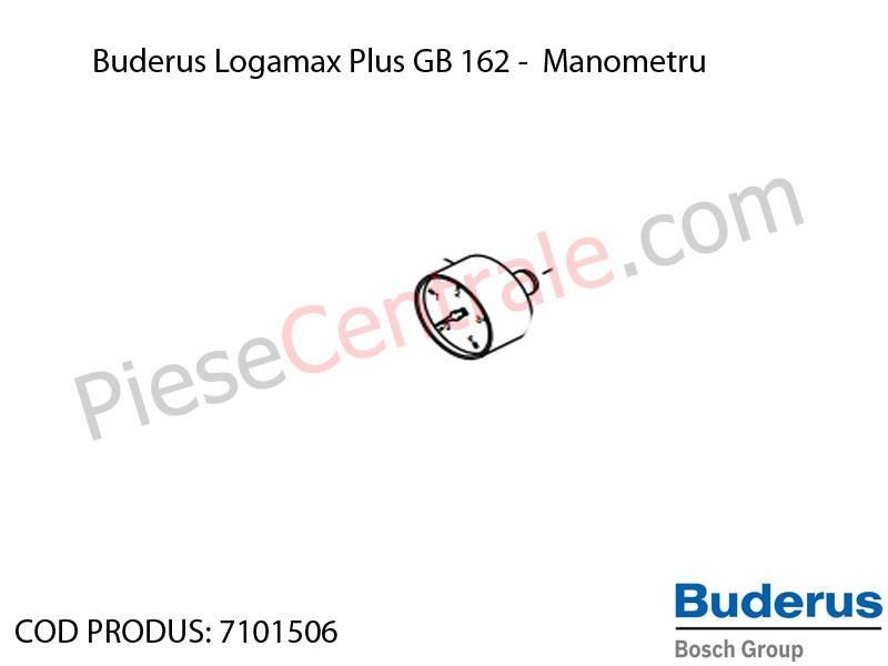 Poza Manometru centrala termica Buderus Logamax Plus GB 162, Bosch Condens 5000W