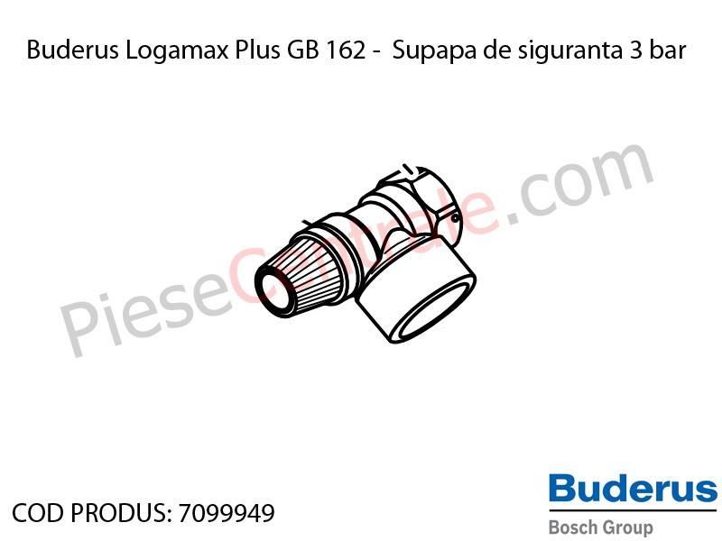 Poza Supapa siguranta 3 bar centrala termica Buderus Logamax Plus GB 162, Bosch Condens 5000W