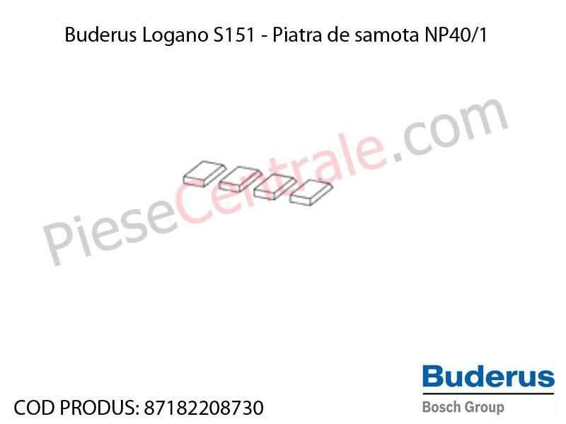 Poza Piatra de samota NP40/1 centrala termica Buderus Logano S 151