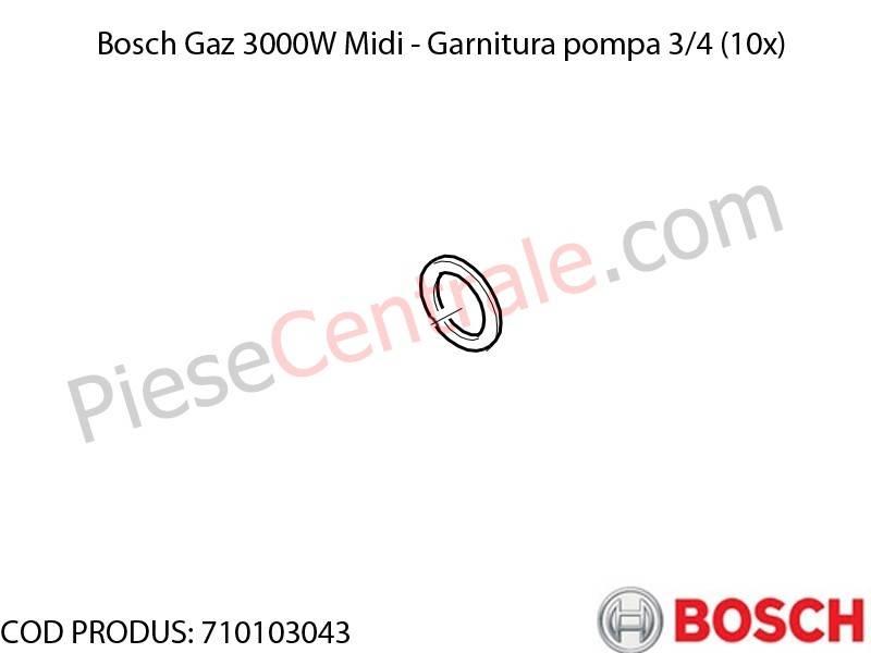 Poza Garnitura pompa 3/4 (10x) centrala termica Bosch Gaz 3000W Midi