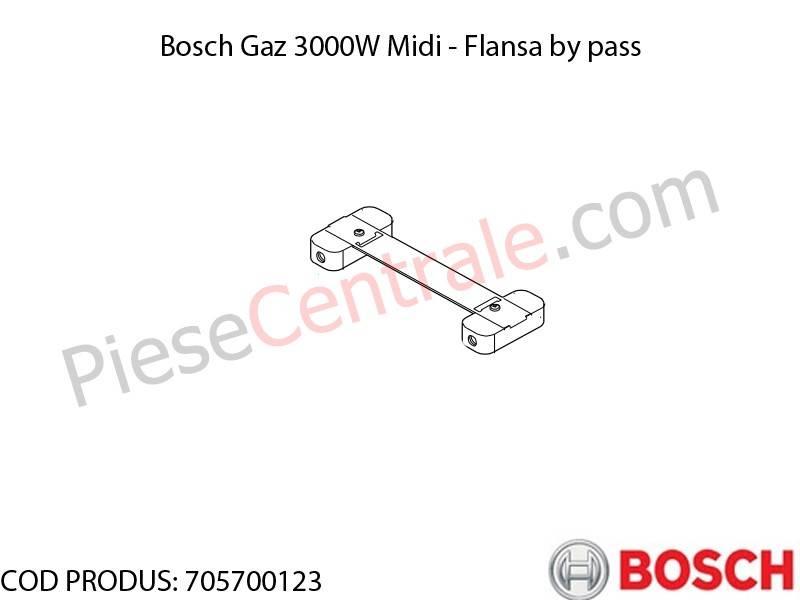 Poza Flansa by pass centrala termica Bosch Gaz 3000W Midi