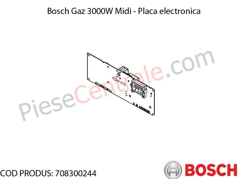 Poza  Placa electronica centrala termica Bosch Gaz 3000W Midi